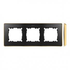 Ramka potrójna grafitowa złota 8201630-242 Simon 82 Detail Kontakt-Simon