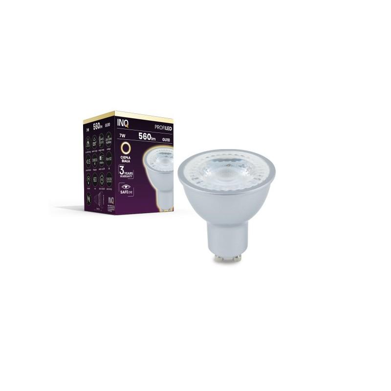 Gwint-trzonek-gu10 - energooszczędna żarówka led z trzonkiem gu10 profi 7w 560lm 830 soczewka inq firmy INQ