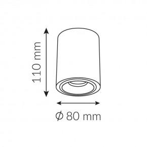 Oprawy-sufitowe - nowoczesna oprawa sufitowa biała do żarówek gu10 inez 1s round ozzo
