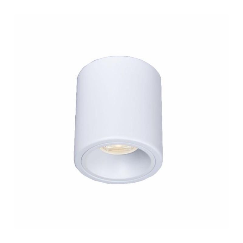 Oprawy-sufitowe - nowoczesna oprawa sufitowa biała do żarówek gu10 inez 1s round ozzo firmy OZZO