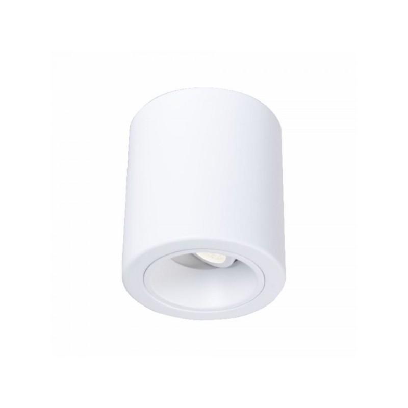 Oprawy-sufitowe - nowoczesna oprawa sufitowa do żarówek gu10 inez 1m round  ruchoma biała ozzo firmy OZZO