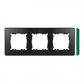 Ramka potrójna grafitowa zielona 8201630-250 Simon 82 Detail Kontakt-Simon