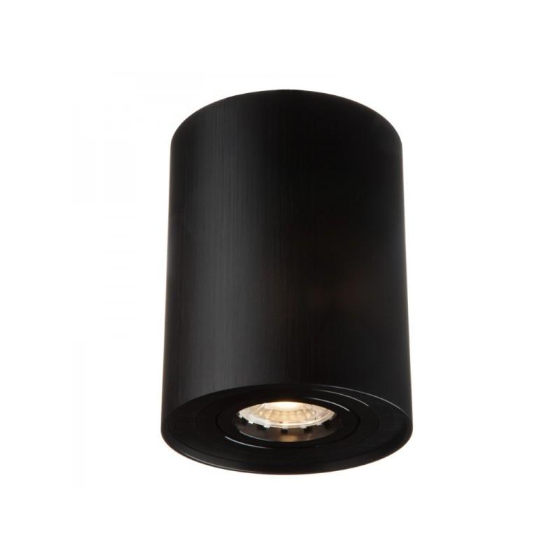 Oprawy-sufitowe - nowoczesna oprawa sufitowa czarna ozzo n/t ivo 1b/bb tubka ruchoma szczotkowana ozzo firmy OZZO