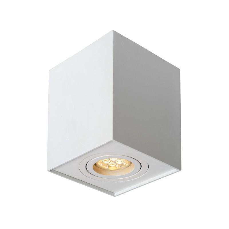 Oprawy-sufitowe - kwadratowa sufitowa oprawa natynkowa  ozzo n/t fabio 1w/w ruchoma biała ozzo firmy OZZO