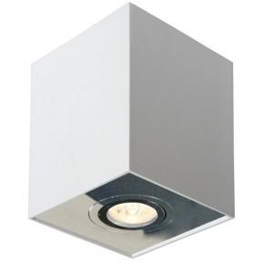 Oprawy-sufitowe - nowoczesna oprawa ozzo n/t fabio 1w/al kwadrat ruchomy biały/alu  ozzo