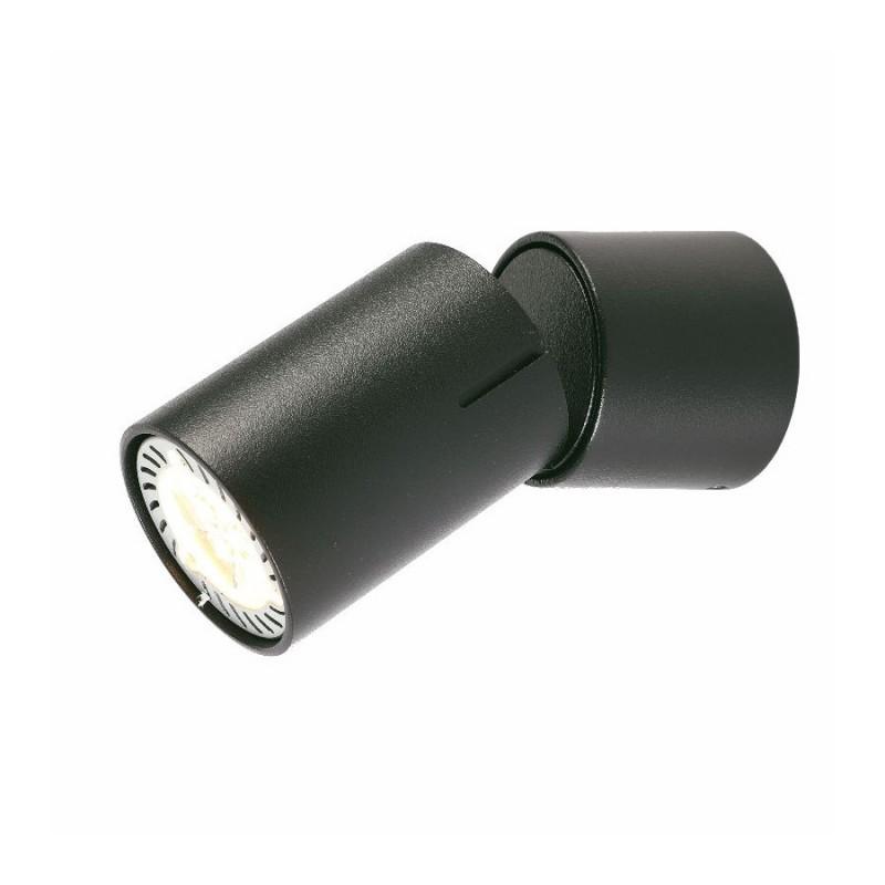 Oprawy-sufitowe - ruchoma oprawa oświetleniowa cleo 1c-bl spot 1-50w czarna ozzo firmy OZZO