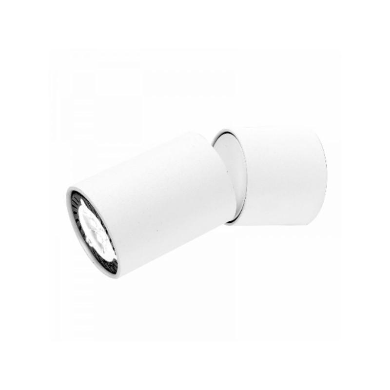 Oprawy-sufitowe - ruchoma oprawa oświetleniowa cleo 1c-wh spot 1-50w biała ozzo firmy OZZO