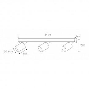 Oprawy-sufitowe - lampa sufitowa szara cleo 3-gr spot 3-50w potrójne źródło światła ozzo