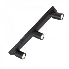 Oswietlenie-sufitowe - lampa sufitowa 3 x gu10 cleo 3-bl spot 3-50w czarna ozzo