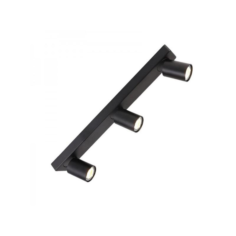 Oswietlenie-sufitowe - lampa sufitowa 3 x gu10 cleo 3-bl spot 3-50w czarna ozzo firmy OZZO