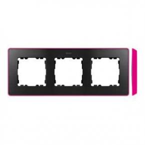 Ramka potrójna grafitowa różowa 8201630-261 Simon 82 Detail Kontakt-Simon