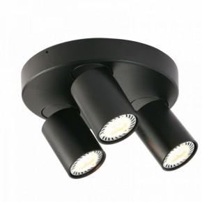 Oprawy-sufitowe - nowoczesna oprawa sufitowa trzy reflektory cleo 3q-bl spot 3-50w czarna ozzo