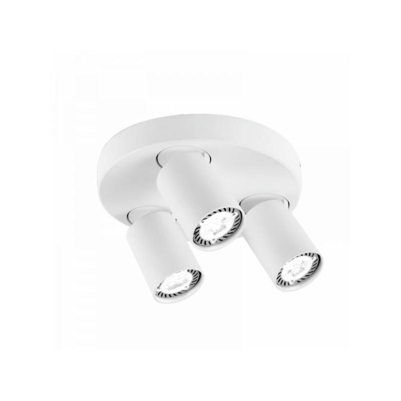 Oprawy-sufitowe - biała oprawa sufitowa ruchome reflektory cleo 3q-wh spot 3-50w ozzo firmy OZZO
