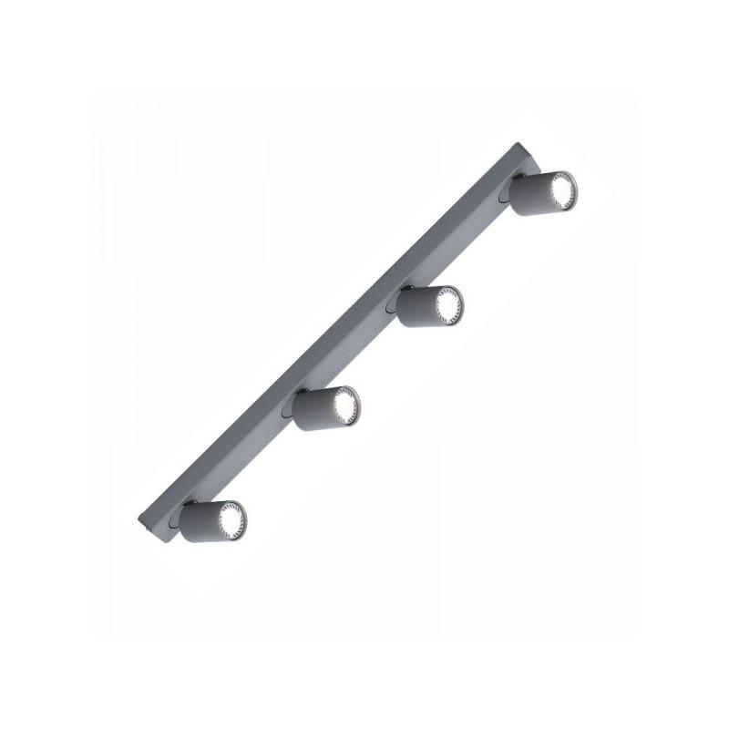 Oprawy-sufitowe - nowoczesna poczwórna oprawa sufitowa ruchoma cleo 4-gr spot 4-50w szara ozzo firmy OZZO