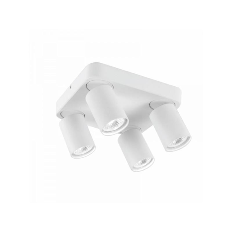 Oprawy-sufitowe - lampa sufitowa poczwórna ruchoma cleo 4q-wh spot 4-50w biała ozzo firmy OZZO