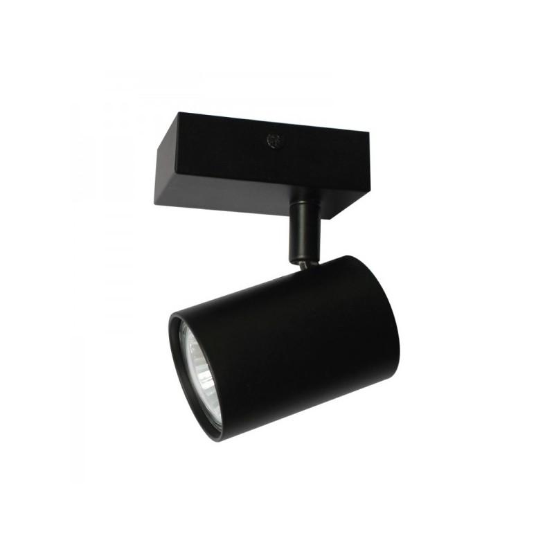 Oprawy-sufitowe - pojedynczy reflektor czarny lara 1q-bl gu10 ozzo firmy OZZO