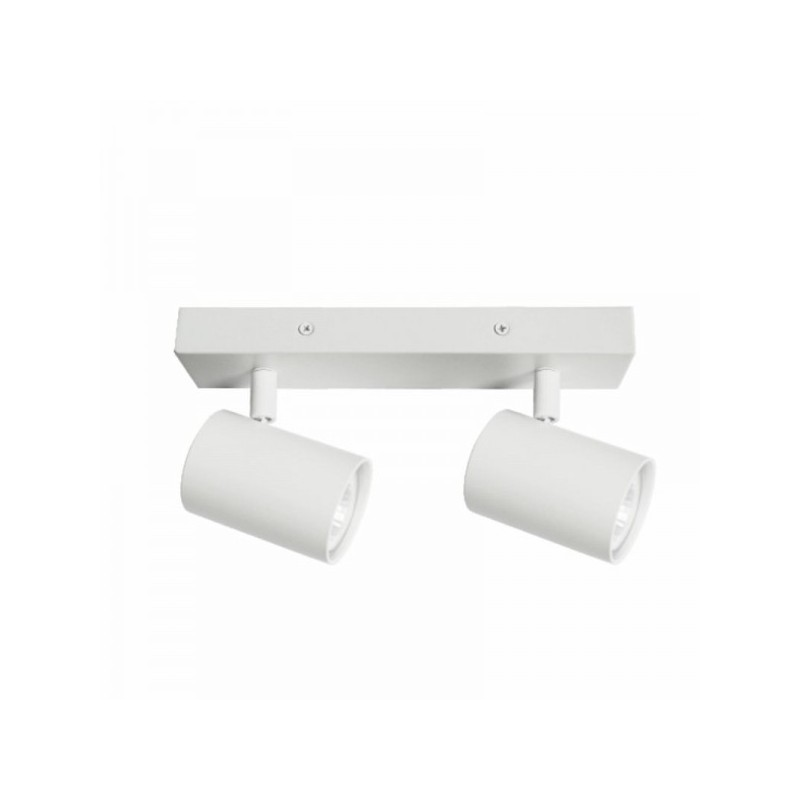 Oprawy-sufitowe - nowoczesna oprawa oświetleniowa biała ruchoma lara 2-wh 2 x gu10 ozzo firmy OZZO
