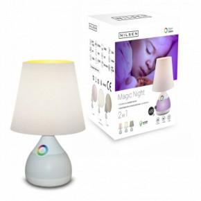 Lampki-nocne - nocna lampka led dla dziecka biała/ecru 6w 3000k magic night ecru dn006 nilsen