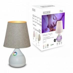 Lampki-nocne - lampka nocna led dziecięca biały/coffe 6w 3000k magic night coffe dn007 nilsen