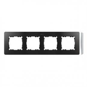 Ramka poczwórna aluminiowa grafitowa 8201640-240 Simon 82 Detail Kontakt-Simon