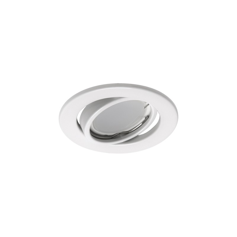 Oprawy-sufitowe - sufitowa oprawa punktowa ruchome oczko kajka c białe ideus firmy IDEUS - STRUHM