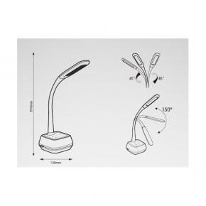 Lampki-biurkowe - lampka biurkowa led z głośnikiem biała 5w 5500k voice hg006 nilsen