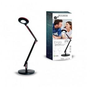 Lampki-biurkowe - biurkowa lampka led w kolorze czarnym 6w 4000k 500lm enzo px032 nilsen