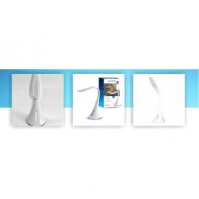 Lampki-biurkowe - biała lampka biurkowa led z portem usb 10w 2700-6500k 400lm svan hr001 nilsen