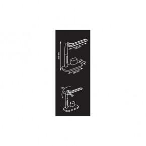 Lampki-biurkowe - czarna lampka led na biurko z przybornikiem 3000-5000k 350lm 4,5w px019 mati nilsen