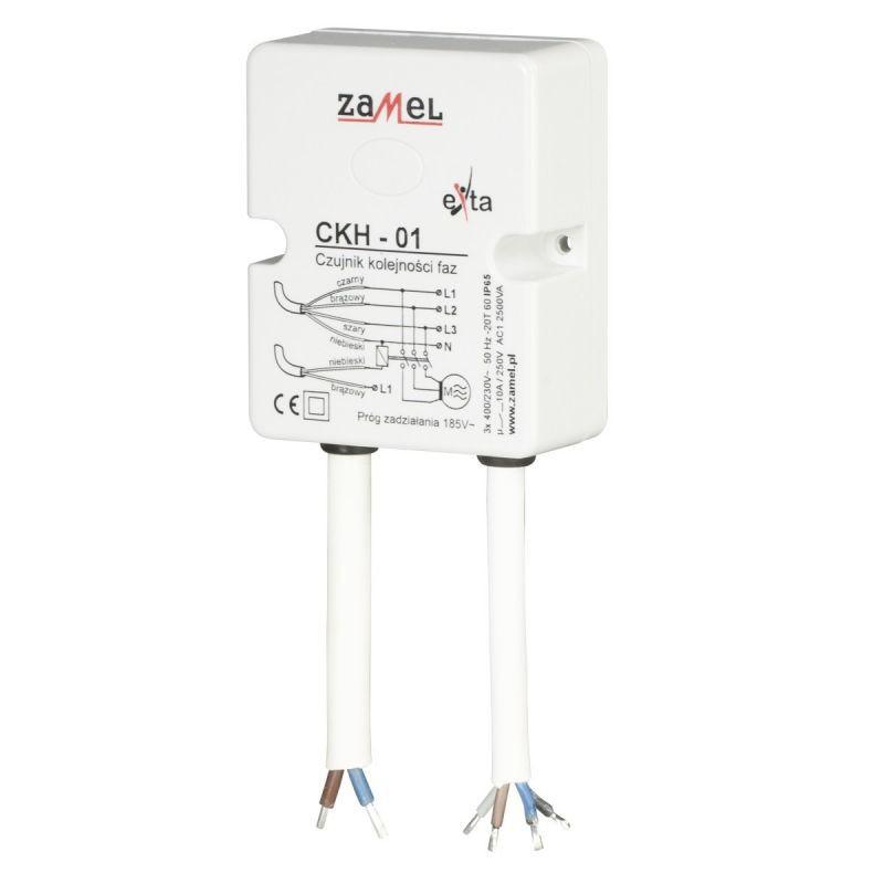 Przekazniki-kontroli-faz - czujnik kolejności faz ckh-01 zamel firmy ZAMEL
