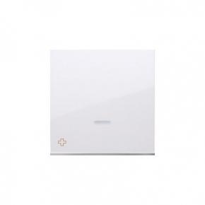 Klawisz pojedynczy z oczkiem do łączników i przycisków podświetlanych antybakteryjny biały DKW1L/AB11 Simon 54 Kontakt-Simon