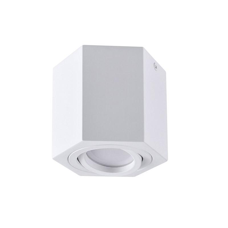 Oprawy-sufitowe - oprawa sufitowa natynkowa sześciokąt biała gu10 hexagon polux firmy POLUX