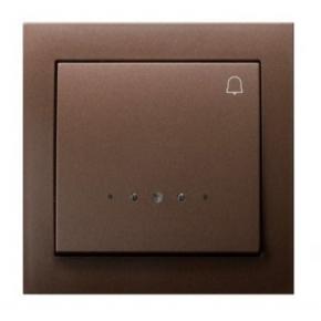 Brązowy przycisk dzwonkowy z podświetleniem ŁP-6WS/52 KIER OSPEL