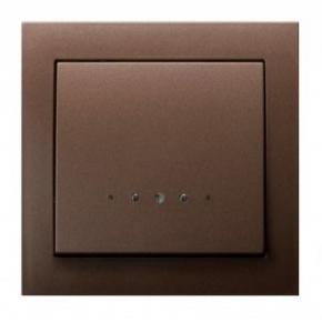 Jednobiegunowy brązowy włącznik z podświetleniem ŁP-1WS/52 KIER OSPEL