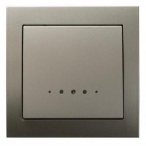 Satynowy włącznik jednobiegunowy z podświetleniem ŁP-1WS/45 KIER OSPEL