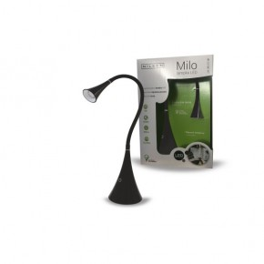 Lampki-biurkowe - czarna lampka led na biurko 4w 4000k 250lm milo led px041 nilsen