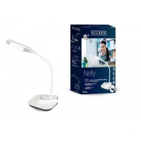 Lampki-biurkowe - biała lampka biurkowa led z klipsem 11,5w 4000k 420lm nelly px034 nilsen