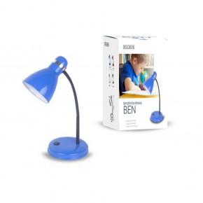 Lampki-biurkowe - niebieska lampka biurkowa w klasycznym stylu e27 40w ben fn019 nilsen
