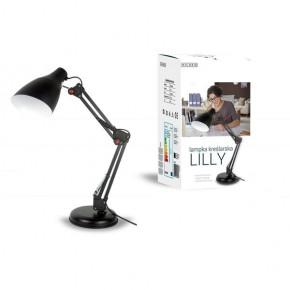 Lampki-biurkowe - czarna lampka biurkowa kreślarska 40w e27 fn018 lilly nilsen