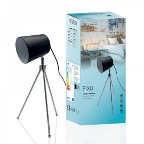 Lampki-biurkowe - czarna lampka biurkowa stołowa o mocy 60w e27 ls004 pixo nilsen