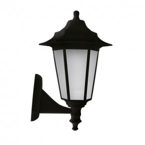 Czarna lampa do ogrodu w...