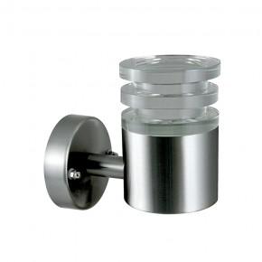 Kinkiety-ogrodowe - lampa zewnętrzna led satynowa typu kinkiet 6,5w crystal 2 polux
