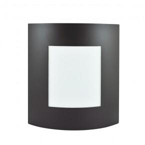 Plafony - plafon elewacyjny na żarówkę e27 brąz prostokąt safon p1 polux