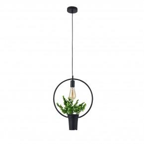 Lampy-sufitowe - dekoracyjna lampa wisząca z doniczką i kwiatkiem soren a il mio polux