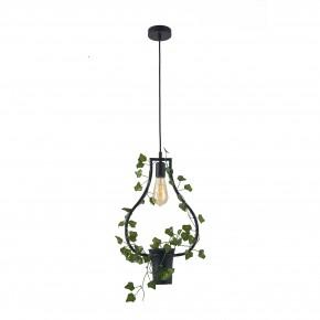 Lampy-sufitowe - dekoracyjna lampa wisząca ze sztucznym bluszczem e27 soren c il mio polux
