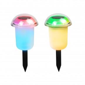 Lampy-solarne - lampka solarna kolorowe światło rgb  25cm momo polux