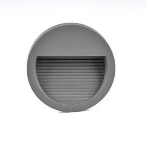 Oswietlenie-schodowe - oprawa schodowa natynkowa okrągła grafitowa 4000k 3w q8 313744 polux