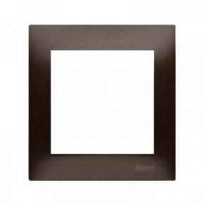 Ramka pojedyncza do puszek karton-gips brązowa  DRK1/46 Simon 54 Premium Kontakt-Simon