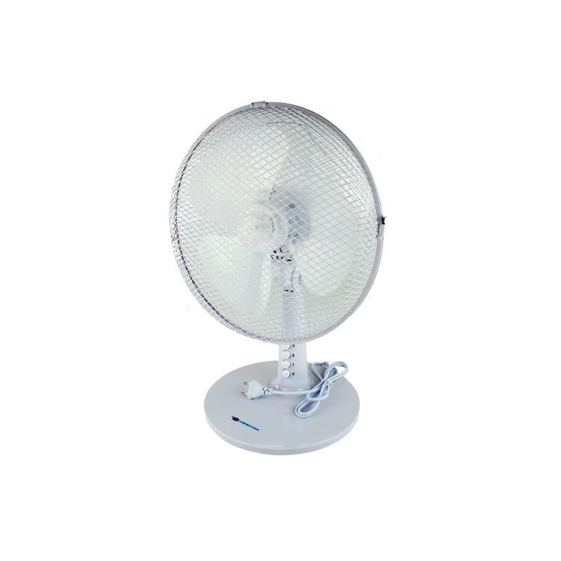 Wentylatory-na-biurko - wentylator biurkowy biały 35w o średnicy 12'' da-1203 descon firmy Dedra