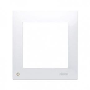 Ramka pojedyncza do puszek karton-gips antybakteryjny biały DRK1/AB11 Simon 54 Premium Kontakt-Simon